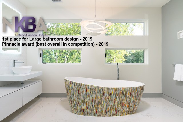 NKBA Ontario Chapters 2019 – 1st Place Large Bathroom Design